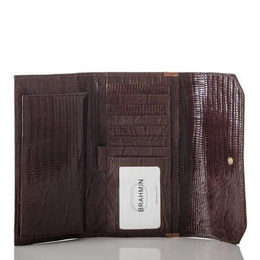 Soft Checkbook Wallet Toasted Almond Garrone Interior