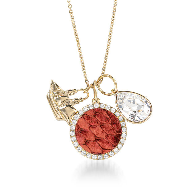 Crystal Charm Necklace Garnet Fairhaven, Garnet, hi-res
