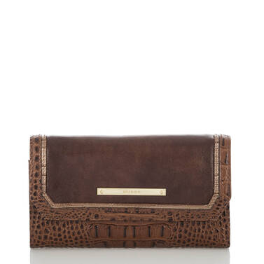 Soft Checkbook Wallet Brown Concerto Front