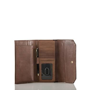 Soft Checkbook Wallet Brown Barrow Interior