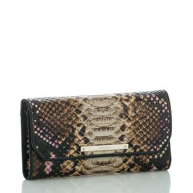 Soft Checkbook Wallet Creme Botan Side