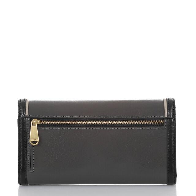 Soft Checkbook Wallet Charcoal Westport, Charcoal, hi-res