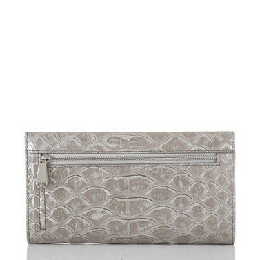Soft Checkbook Wallet Silver Pamilla Front