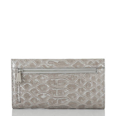 Soft Checkbook Wallet Silver Pamilla Back
