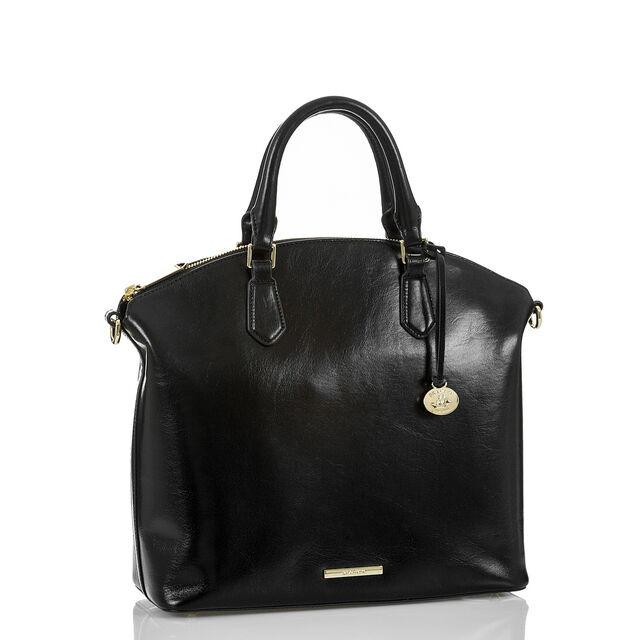 Large Duxbury Satchel Black Topsail, Black, hi-res
