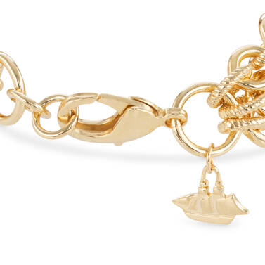 Smooth Twisted Layered Chain Bracelet Light Gold Providence Side