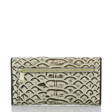 Soft Checkbook Wallet Pearl Dogwood Back