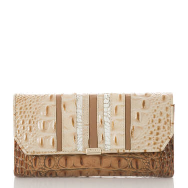 Soft Checkbook Wallet Champagne Koubba Front