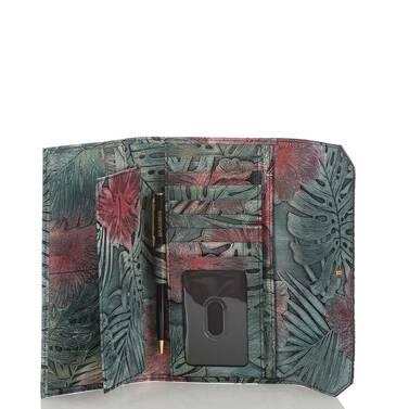 Soft Checkbook Wallet Green Solandra Interior