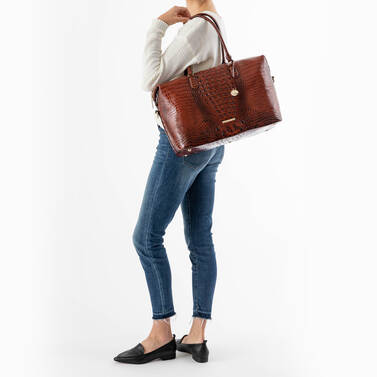 Duxbury Carryall Port Ombre Melbourne on figure for scale