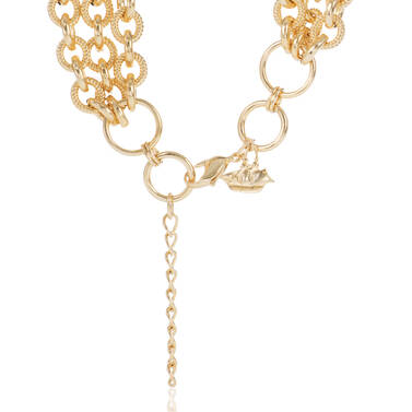 Smooth Twisted Layered Chain Necklace Light Gold Providence Side