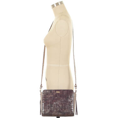 Carrie Crossbody Brown Charente On Mannequin