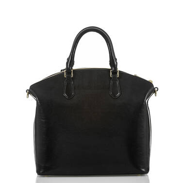 Large Duxbury Satchel Black Topsail Back