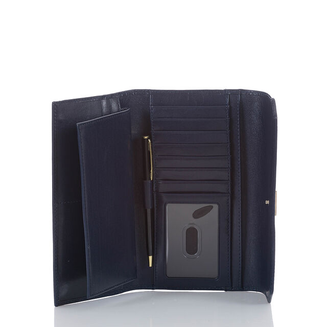 Soft Checkbook Wallet Navy Topsail, Navy, hi-res
