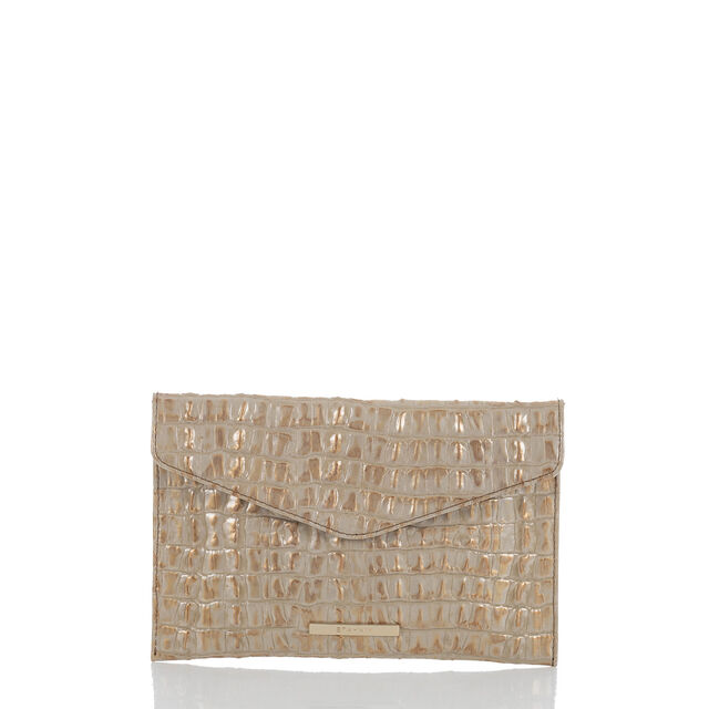 Envelope Clutch Gold La Scala, Gold, hi-res