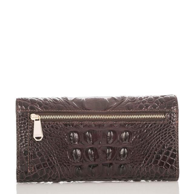 Soft Checkbook Wallet Siltstone Bologna, Siltstone, hi-res
