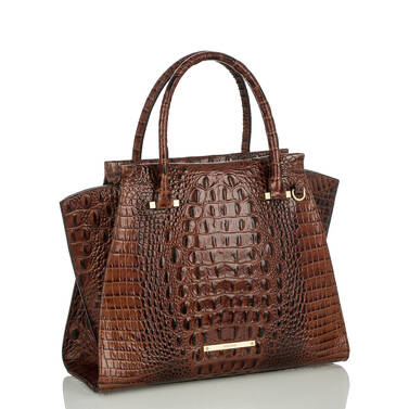 Priscilla Satchel Pecan Melbourne Side