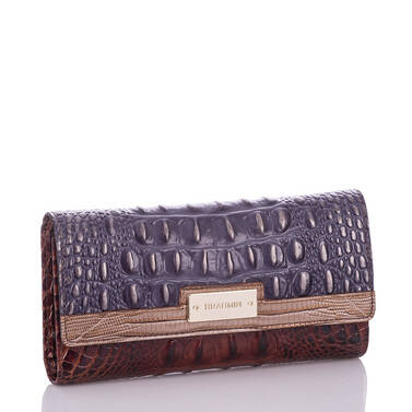Soft Checkbook Wallet Andesite Lucino Side