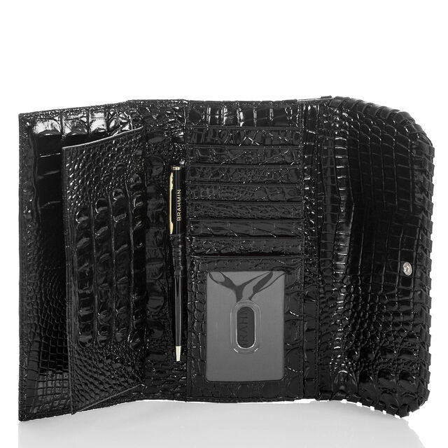 Soft Checkbook Wallet Black Wilde, Black, hi-res