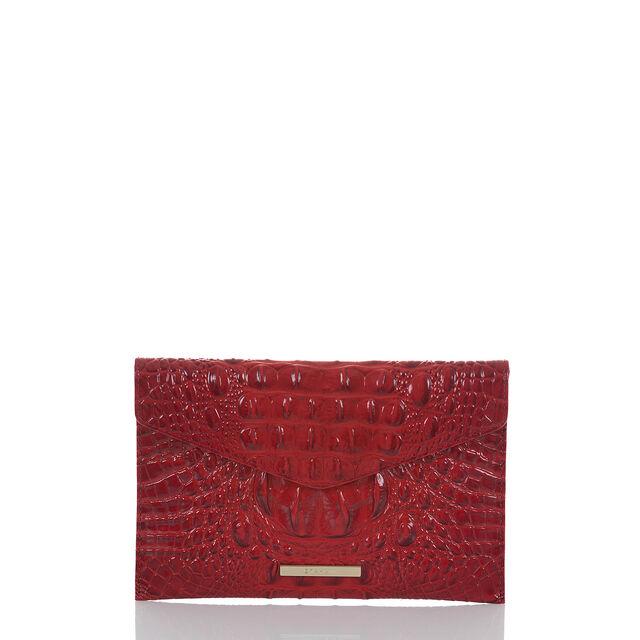 Envelope Clutch Scarlet Melbourne, Scarlet, hi-res