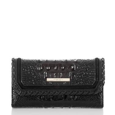 Soft Checkbook Wallet Black Wilde Front