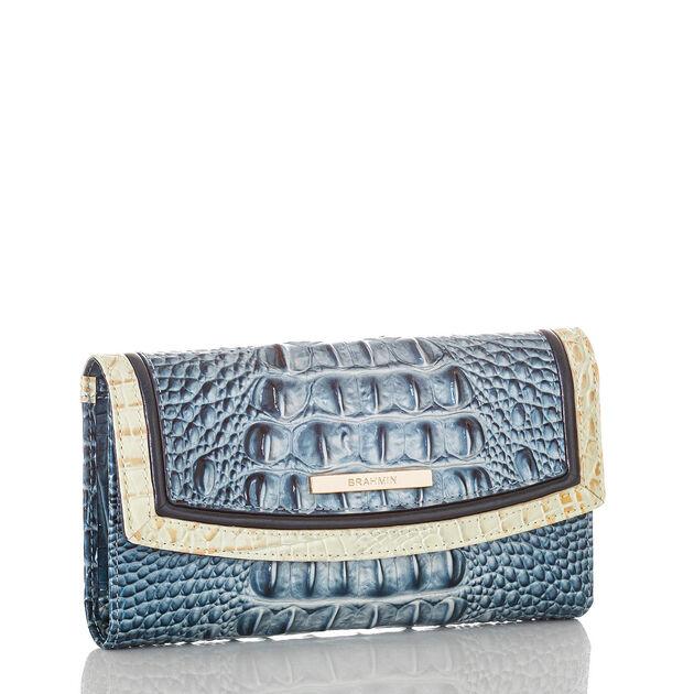 Modern Checkbook Wallet Aquarius Lattice
