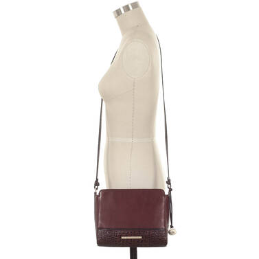 Carrie Crossbody Malbec Autumn Tuscan on figure for scale