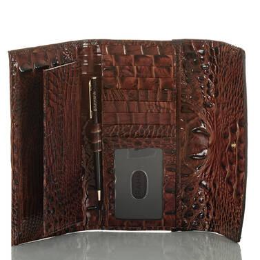 Modern Checkbook Wallet Serpentine Heartwood Interior