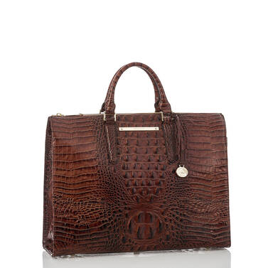 Business Tote Pecan Melbourne Side