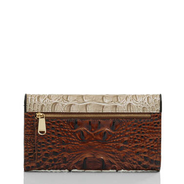 Modern Checkbook Wallet Linen Osmia Back