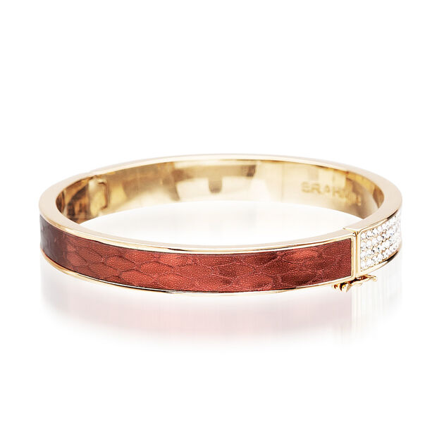 Split Crystal Bangle Garnet Fairhaven