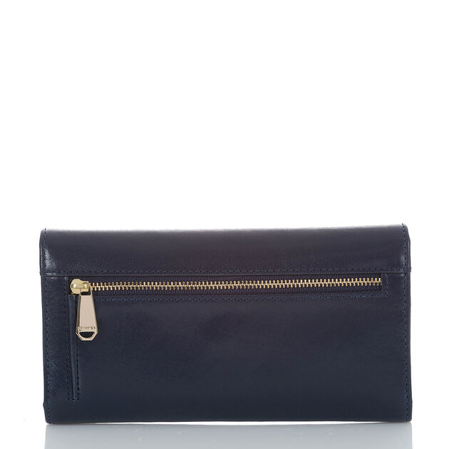 Soft Checkbook Wallet Navy Topsail