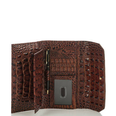 Soft Checkbook Wallet Rose Gold Provence Interior