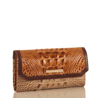 Soft Checkbook Wallet Dark Rum Caleb Side