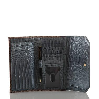 Soft Checkbook Wallet Mallard Davos Interior