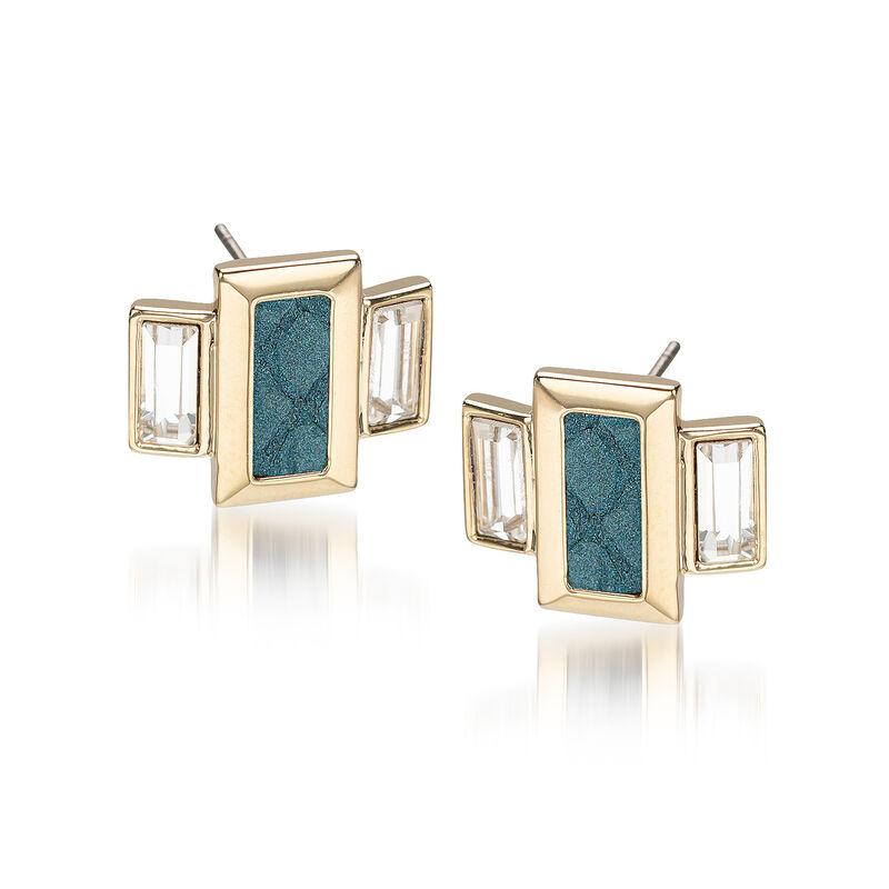 Emerald Cut Crystal Earrings Agate Fairhaven