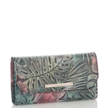Soft Checkbook Wallet Green Solandra Side