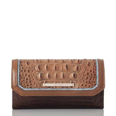 Soft Checkbook Wallet Toasted Almond Garrone Front