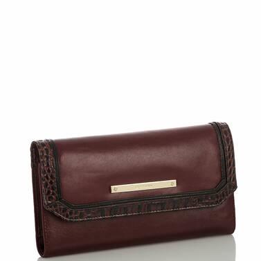 Soft Checkbook Wallet Malbec Autumn Tuscan Side