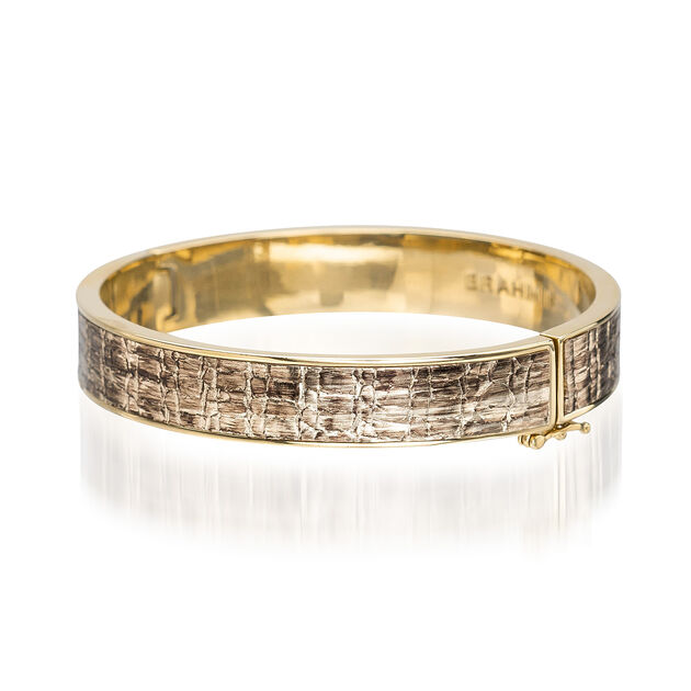 Heritage Leather Bangle Gold Fairhaven, Gold, hi-res