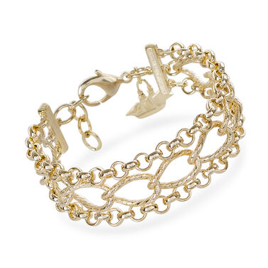 Three Row Chain Bracelet 18K Gold Plated Providence Front