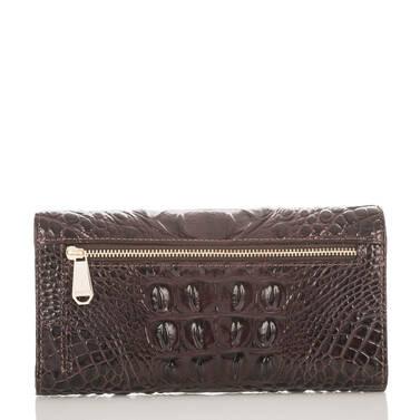 Soft Checkbook Wallet Siltstone Bologna Back