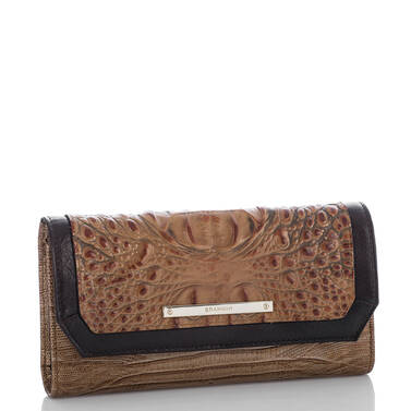 Soft Checkbook Wallet Toasted Almond Bengal Side