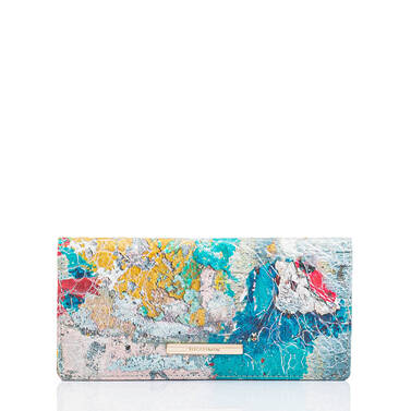 Ady Wallet Mosaic Portovera Front Brahmin Exclusive