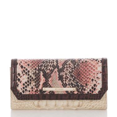 Soft Checkbook Wallet Pink Collins Front