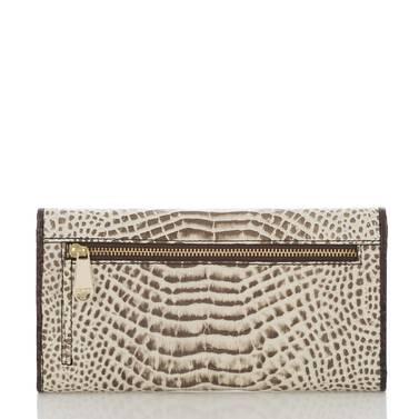 Soft Checkbook Wallet Creme Rhodes Back