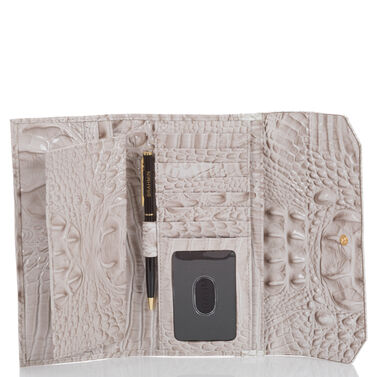 Soft Checkbook Wallet Pumice Tri-Color Front