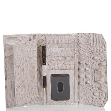 Soft Checkbook Wallet Pumice Tri-Color Interior