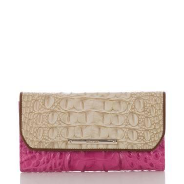 Soft Checkbook Wallet Raspberry Biscayne Front