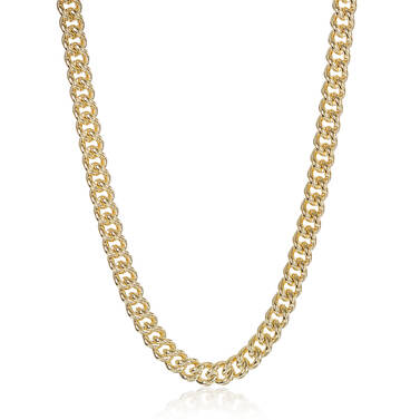 Classic Curb Necklace 18K Gold Plated Providence Front